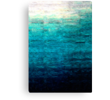Blue Oil Painting Canvas Print
