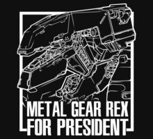 Metal Gear REX for President - White Ink by screamingcolor