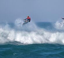 Mick Fanning ~ Bells Beach 2012 - Airborne Pano by John Conway