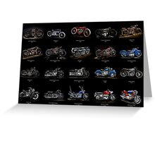 Classic Motorcycles Greeting Card