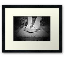 Sweet Mary-Janes.... Framed Print