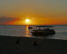 Sunset across Moreton Bay by Margaret  Hyde