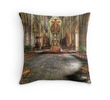 The Gathering - Peterborough Cathedral Throw Pillow