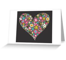 Spring Flowers Valentine Heart 2  Greeting Card