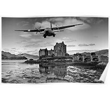 Flying over Eilean Donan Castle Poster