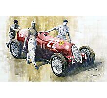 Alfa Romeo 12C-36 Tazio Nuvolari Coppa Ciano race 1937 Photographic Print