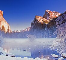 GATES OF THE VALLEY,WINTER by Chuck Wickham