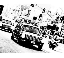 The President's Limo on Sunset Blvd Photographic Print