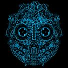 Robot Skull - blue by thedailyrobot