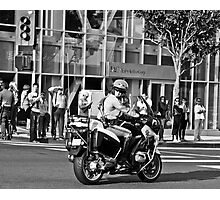 Waiting for The President... Photographic Print