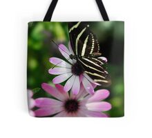 Zebra Longwing on a Daisy  Tote Bag