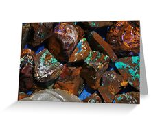 Aquatic Opals Greeting Card