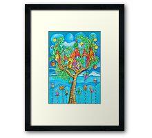 Tree House - Fantasy Word Framed Print