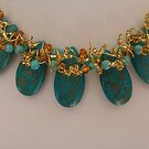 Turquoise and Gold by Erica Long