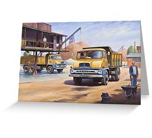 Midland Gravel Thames Traders Greeting Card