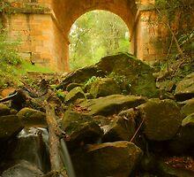 Lennox Bridge further downstream by Michael Matthews