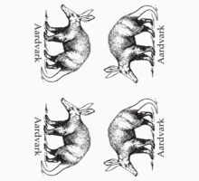 small Aardvark stickers by mrmark