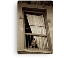 Face in the Window Canvas Print