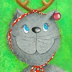 Christmas Cat :-) by Malerin Sonja Mengkowski