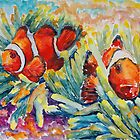 Clownfish In Their Paradise by Barbara Pommerenke