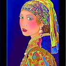 'Pearls Are A Girls Best Friend', Titled Greeting Card by luvapples downunder/ Norval Arbogast