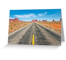 Where we're going, We don't need roads! Greeting Card