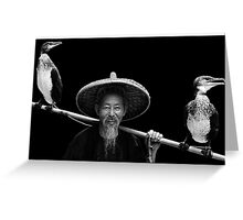 Cormorant Fisherman Greeting Card