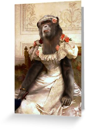 Chimp in Gown by Gravityx9