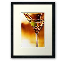 the martini - close up Framed Print