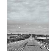A remote road to nowhere Photographic Print