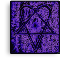 Violet Thoughts Heartagram Canvas Print