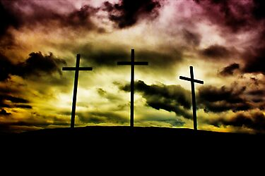Scorched Sky Crucifixion by Nick Mooney