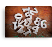 Numbers I Canvas Print