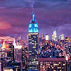 Empire State Building Feeling Like A Blue Giant by artshop77
