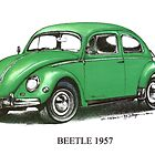 1957 Volkswagon Beetle  by mrclassic