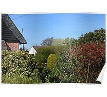 An Essex Garden at Easter Poster