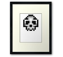 Pixel Skull Framed Print