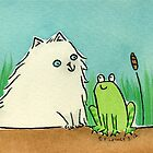 Cat Meets Frog by zoel