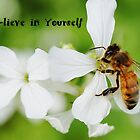 Bee-lieve in Yourself Card or Poster by cardsforyou
