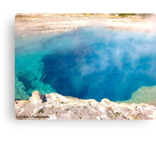 Into the steamy blue depths Canvas Print
