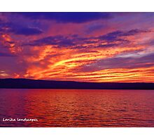 Vibrant evening Photographic Print