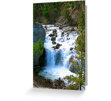 Firehole falls Greeting Card