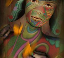 Three Butterflies + She by Cynthia Lund Torroll