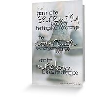 Serenity Prayer with Bells © Vicki Ferrari Greeting Card