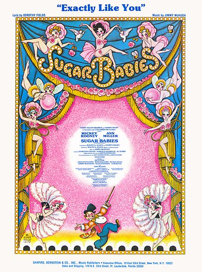 "SUGAR BABIES ""Exactly Like You"" (vintage illustration) by ART INSPIRED BY MUSIC"