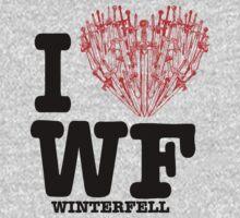 "I Love WF ""winterfell"" Kids Clothes"