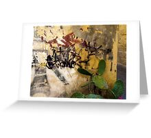 Graffiti and the Cactus in Lecce Greeting Card