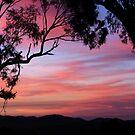 Sunset over the Brindabella Ranges. by shortshooter-Al