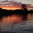 Sunset on the Murray River by LeonieRobertson