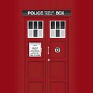 Red TARDIS by Mark Walker